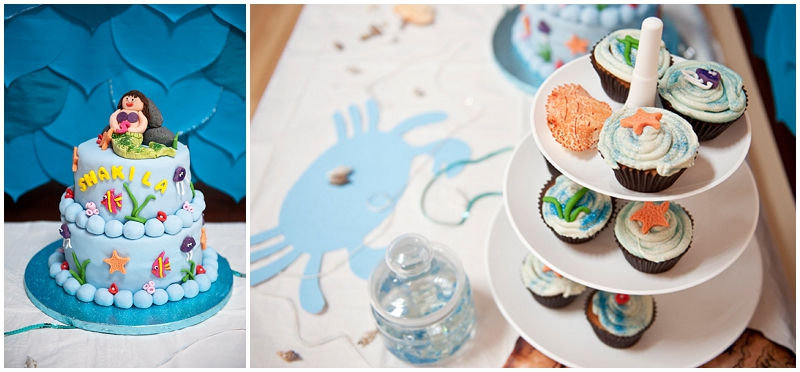 Mermaid themed party table