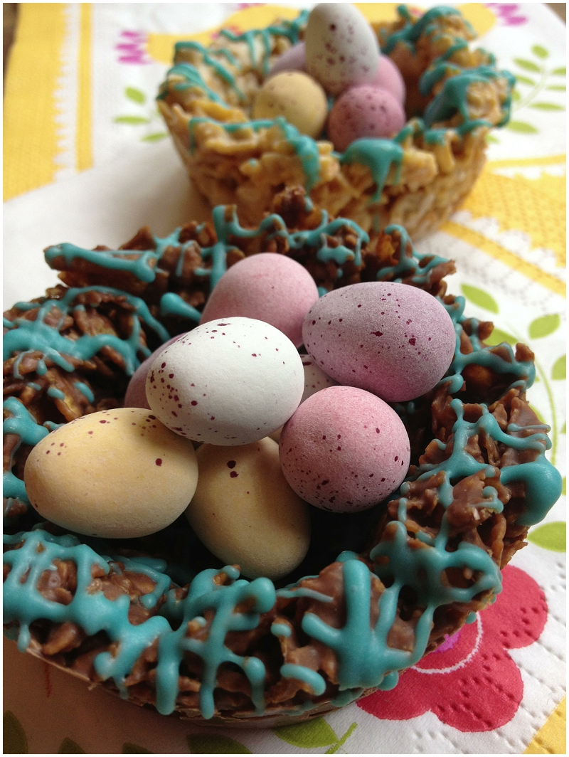 Crunchy Chocolate Easter Nests