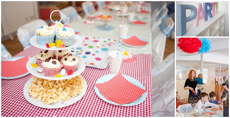 Gingham & polka dot party
