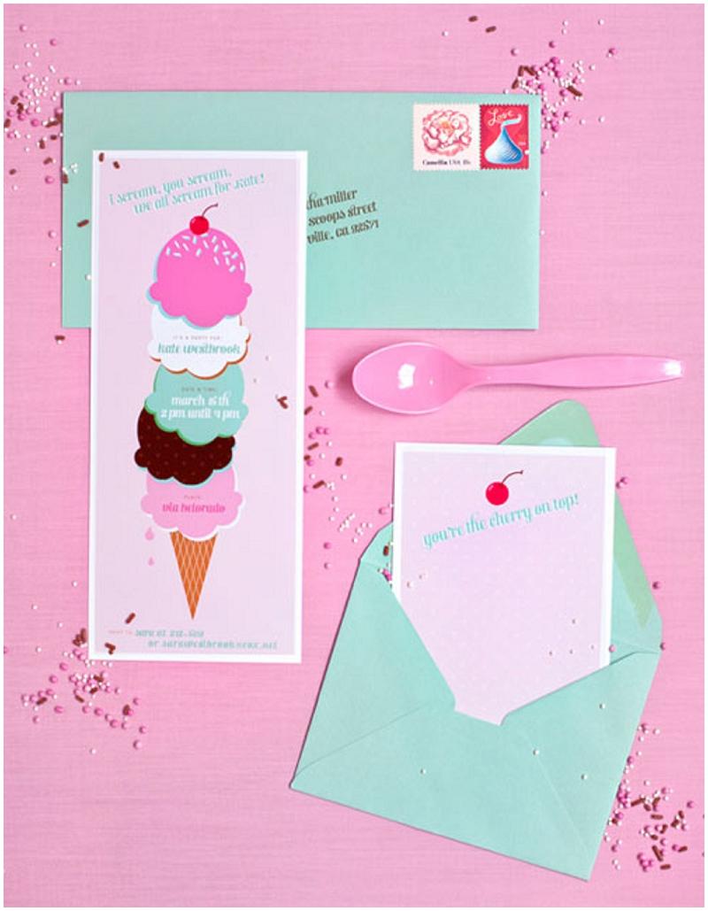 Ice Cream invite