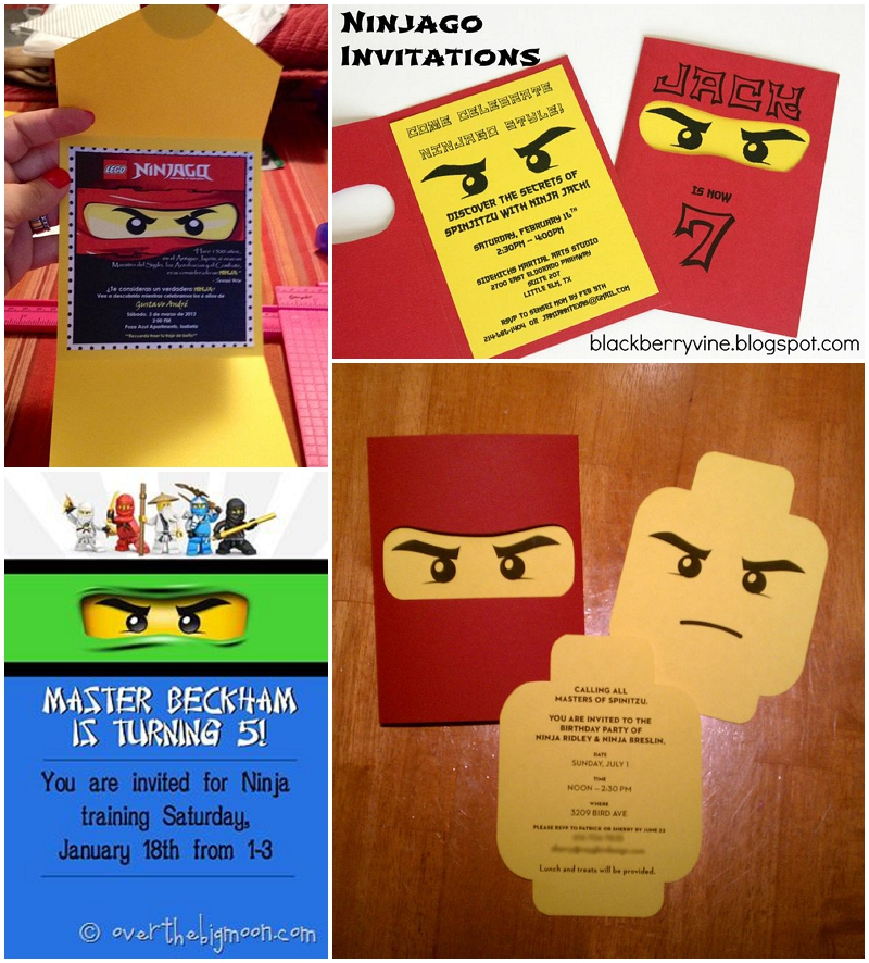 Ninjago invitations