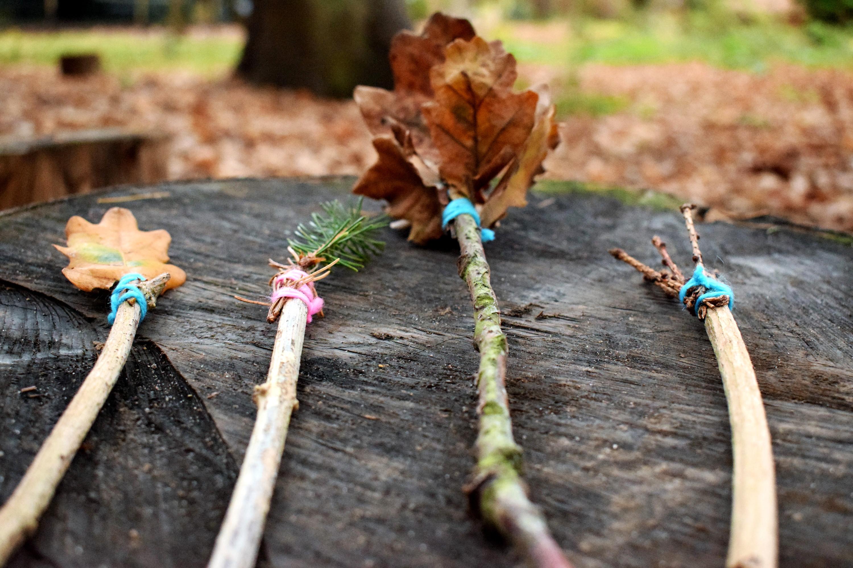 Easy Woodland Wands | Ellie Kelly Blog