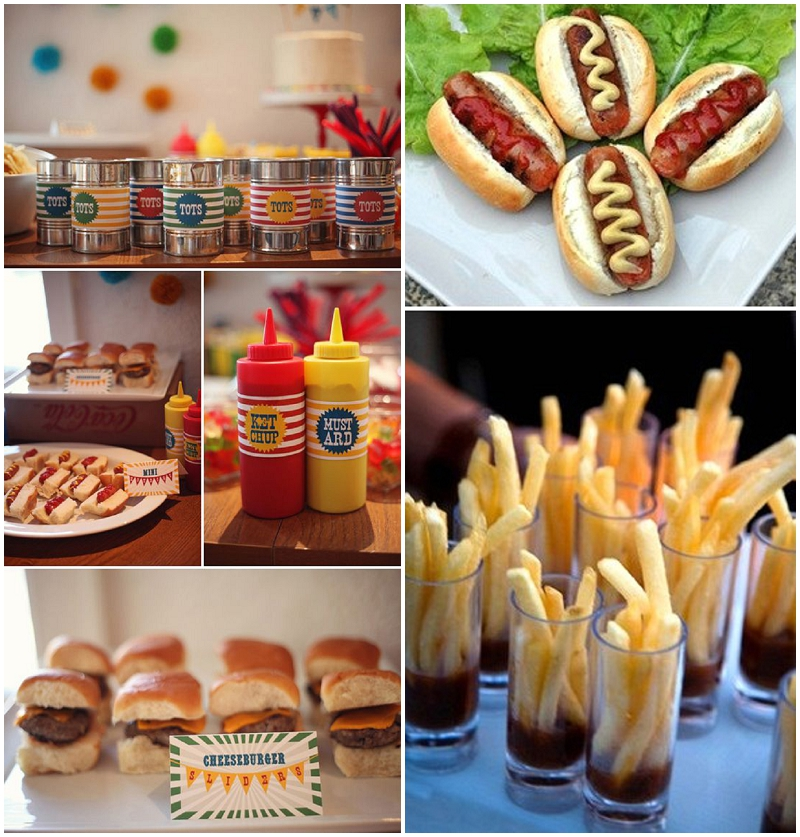 Hot party food