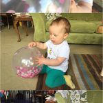 Baby balloon play